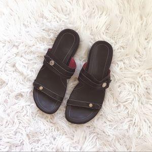 • Cole Haan • Nike Ankle Slip On Sandals Black 9
